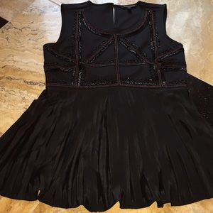 The Limited Eva Longoria beaded/pleated sleeveless